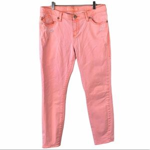 Rock & Republic Hamburg Coral Skinny Jeans Size 12